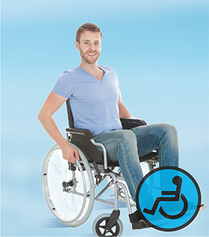 Equipment for wheel chair users and locomotor patients